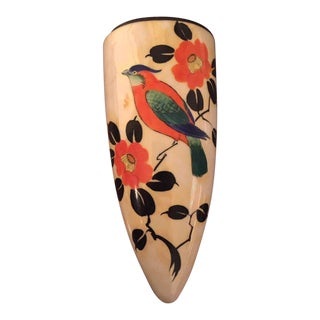 20th Century Japanese Hand Painted Wall Vase For Sale