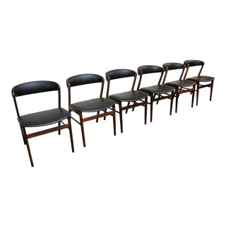 Danish Modern Anholt Rosewood Dining Chairs - Set of 6 For Sale