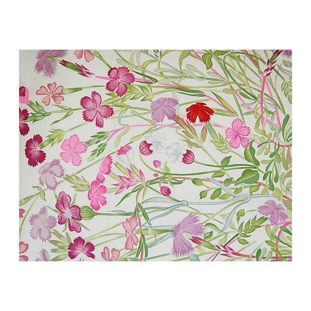 Niki Goulandris Hermes French Floral Silk Pillow - Image 4 of 8