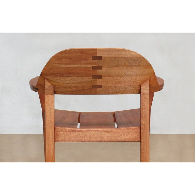 Mid Century Modern Dining or Desk Chairs Sustainably Sourced Royal Mahogany. Xiloa Chairs - 4 - Image 5 of 9