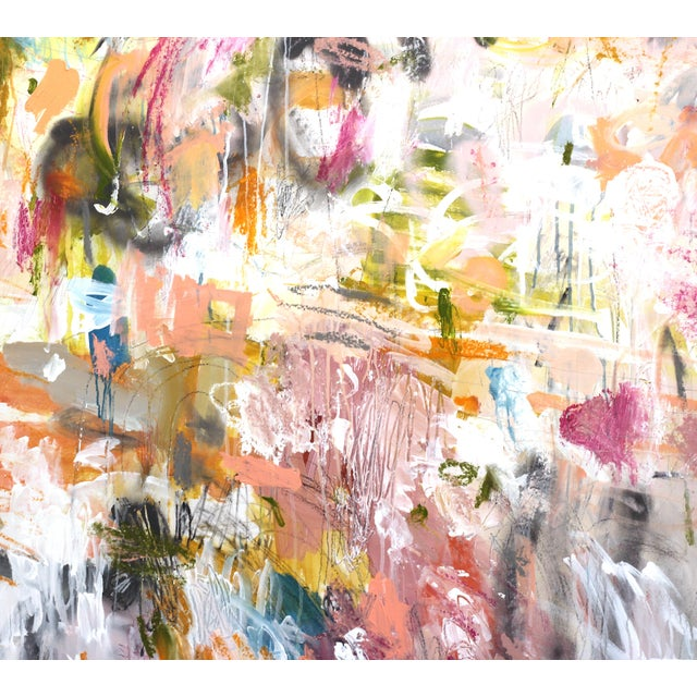 """Lesley Grainger """"Over and Over"""" Contemporary Painting For Sale - Image 4 of 9"""