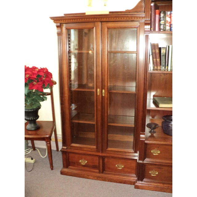 Antique Cherry Bookcase Display Cabinet For Sale In Saint Louis - Image 6 of 8