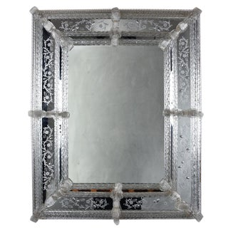 Vintage Italian Murano Glass Mirror For Sale