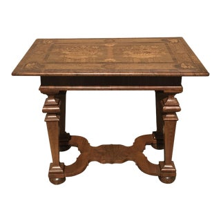 Dutch Marquetry Center Table, 1840s