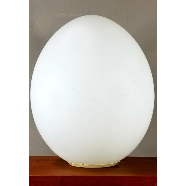 Vintage Mid-Century Glass Egg Large Lamp For Sale - Image 11 of 11