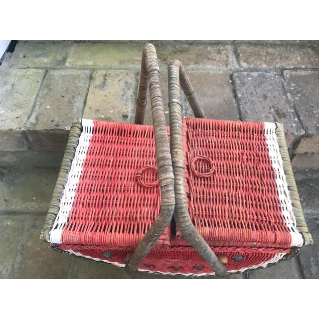 Country Watermelon Picnic Basket For Sale In New Orleans - Image 6 of 13