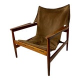 Image of Vintage Suede Kinna Armchair by Hans Olsen for Viska Mobler For Sale