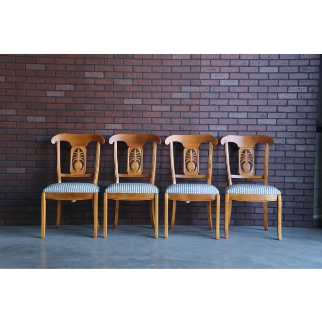 1990s Vintage Ethan Allen Legacy Collection Pineapple Dining Side Chairs- Set of 4 For Sale - Image 9 of 9