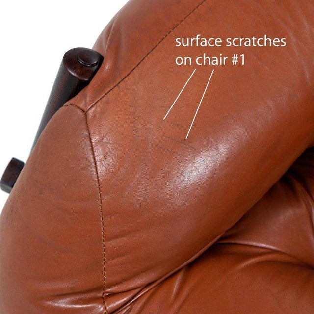 Percival Lafer Mp-81 Brazilian Rosewood & Leather Lounge Chairs and Ottoman Set For Sale - Image 10 of 13