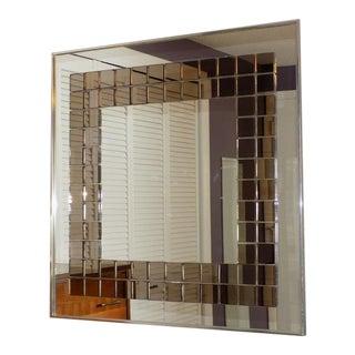 Tiled Hal Bienenfeld Pop Op Art Wall Mirror For Sale
