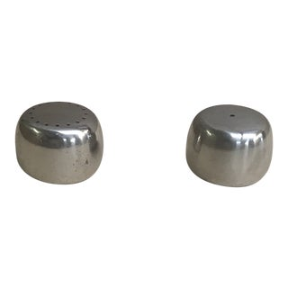 1990s Georg Jensen Stainless Steel Salt and Pepper Shakers For Sale
