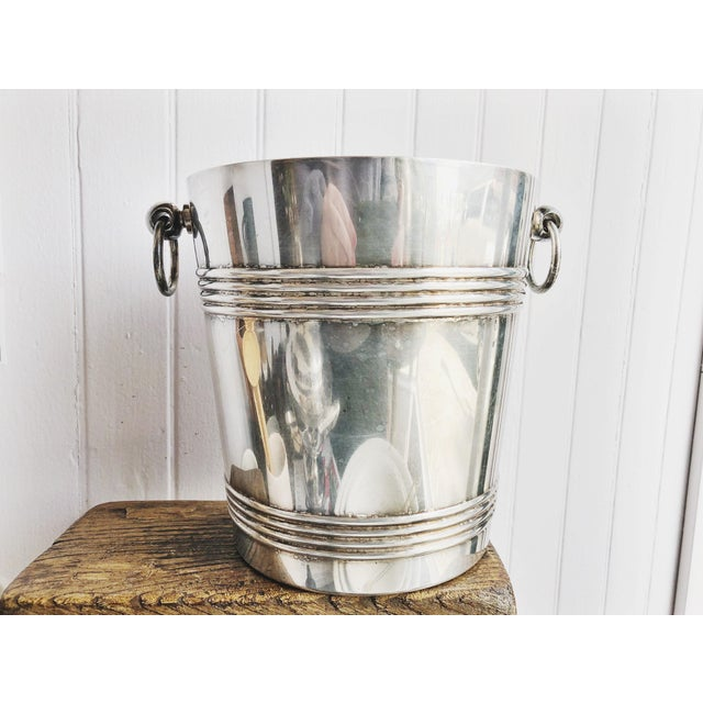 Silver Vintage 1960s Christofle Silver Plated Champagne Bucket For Sale - Image 8 of 8