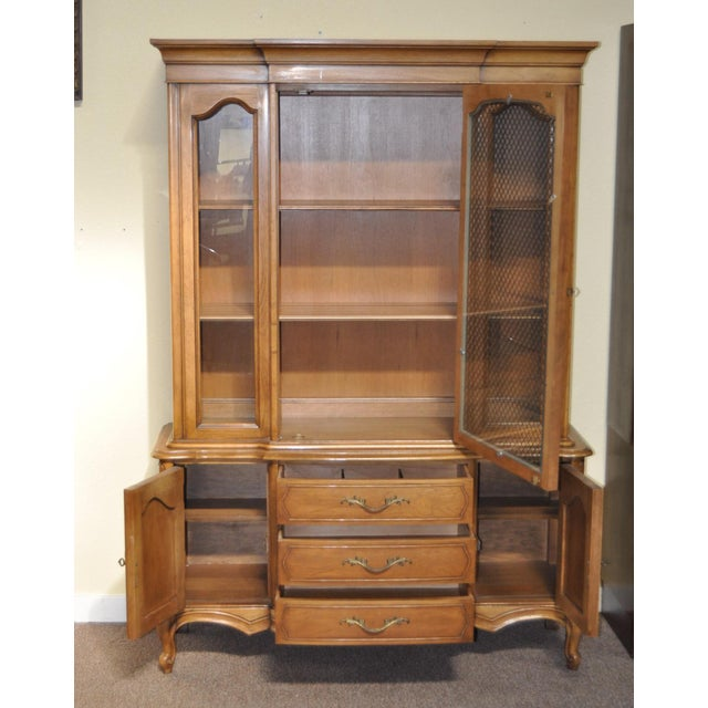French Provincial Walnut Cabinet - Image 3 of 8