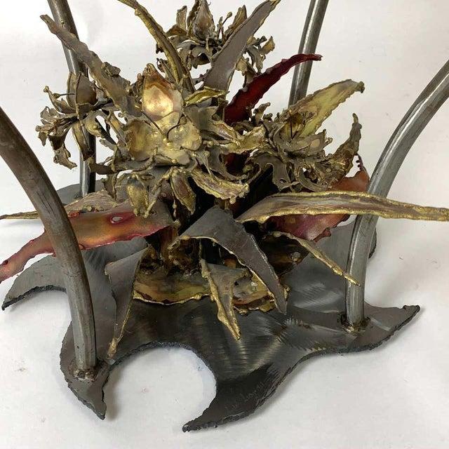 Silas Seandal Studio Brutalist Bloom Welded Bronze, Steel, & Copper Coffee Table For Sale - Image 10 of 13