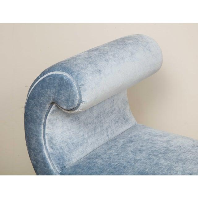 Blue Italian Giltwood Bench in Blue Velvet For Sale - Image 8 of 13