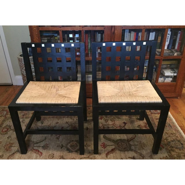 1970s Art Nouveau Charles Mackintosh Dining Chairs - a Pair For Sale - Image 10 of 10