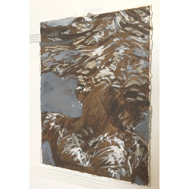 """2010s Carol Bennett """"Francis"""" Figurative Underwater Oil Painting on Paper For Sale - Image 5 of 5"""