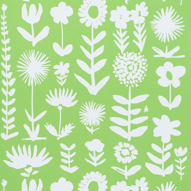 Schumacher Schumacher X Vera Neumann Wild Things Wallpaper in Leaf For Sale - Image 4 of 5