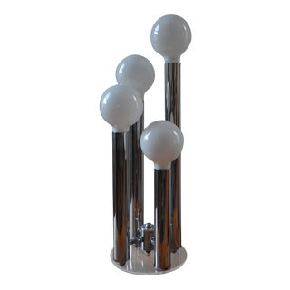 Space Age 60's Lucite & Chrome Tower Lamp