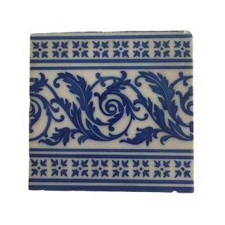 Vintage Blue & White Spanish Tile For Sale