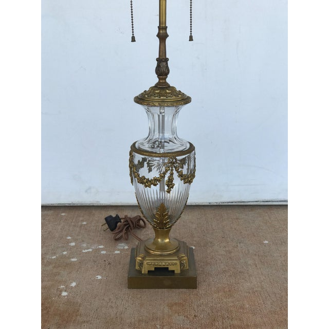 French 20th Century French Crystal Lamp For Sale - Image 3 of 4