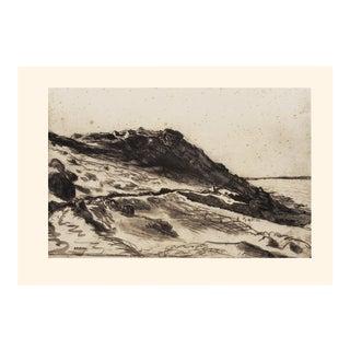 "1959 Jean-François Millet ""Seaside at Greville"", Large Boho Chic First Edition Lithograph For Sale"