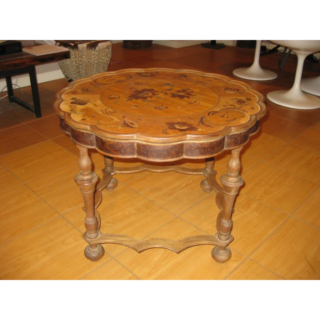 - Antique Inlaid Wood Coffee Table Chairish