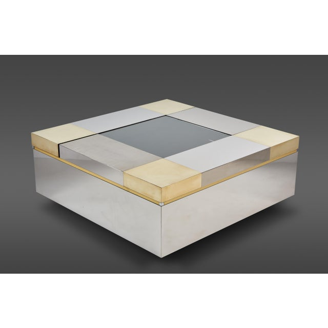 A Stunning Italian Coffee Table With Moveable Compartments. For Sale - Image 4 of 4