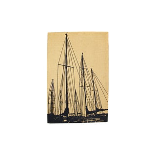 Marushka Sailboat Screenprint Wall Textile For Sale