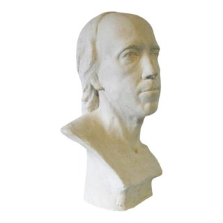 Mid 20th Century Male Plaster Bust by Elizabeth Nickerson For Sale