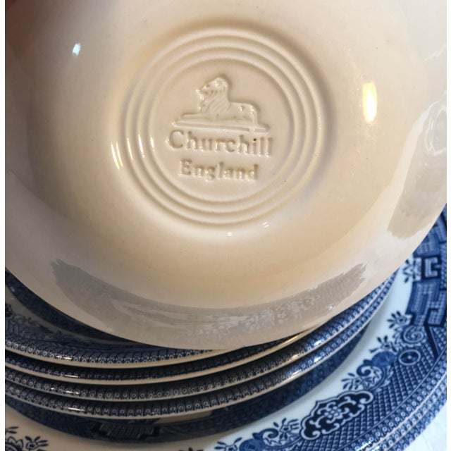 This is for Churchill's Blue willow dishes, that are white with blue transfer ware. The color on these is perfect with no...