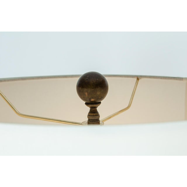 Mid 20th Century Vintage Mid-Century Modern Glazed Porcelain Table Lamps - a Pair For Sale - Image 5 of 10