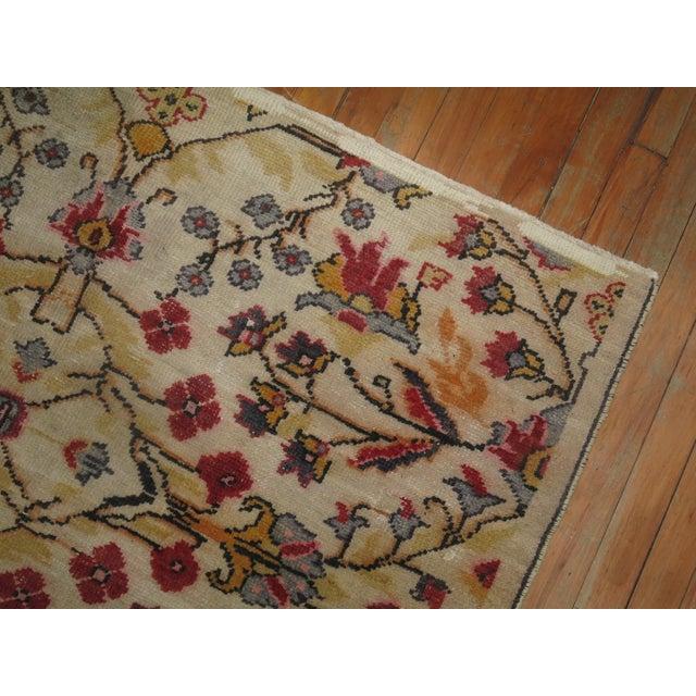 Textile Vintage Turkish Anatolian Rug - 4'3'' X 6'5'' For Sale - Image 7 of 9