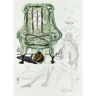 Salvador Dalí­ Breathing Pneumatic Armchair (Imagination & Objects of the Future Portfolio) 1975 For Sale