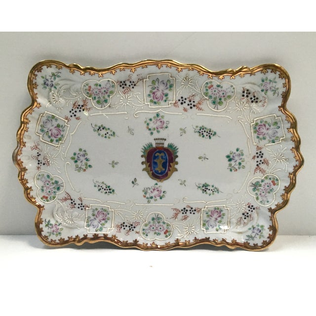 Hand Painted Embossed Ornate Dresser Tray - Image 2 of 8