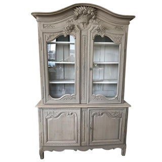 Vintage French Painted Oak Buffet For Sale