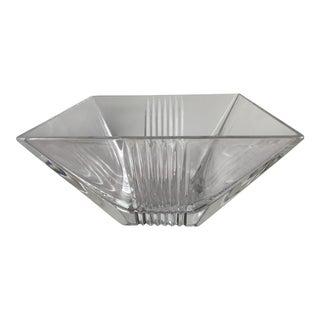 "Tiffany & Co. Metropolis 8"" Square Crystal Bowl For Sale"