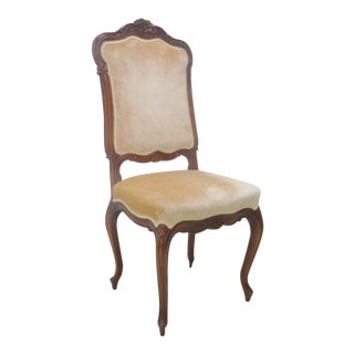 French Carved Walnut Side Chair