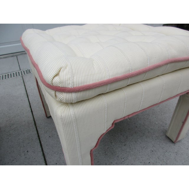 Parsons Style Stools or Footstools -A Pair - Image 7 of 10
