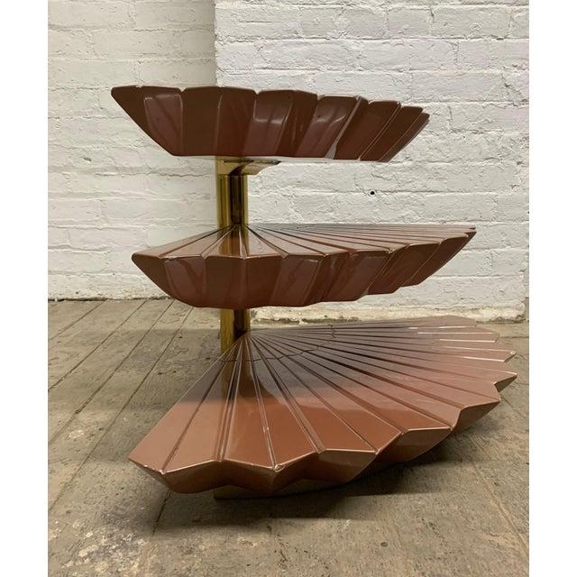 Gabriella Crespi Italian Tiered Occasional Table Style of Gabriella Crespi For Sale - Image 4 of 9