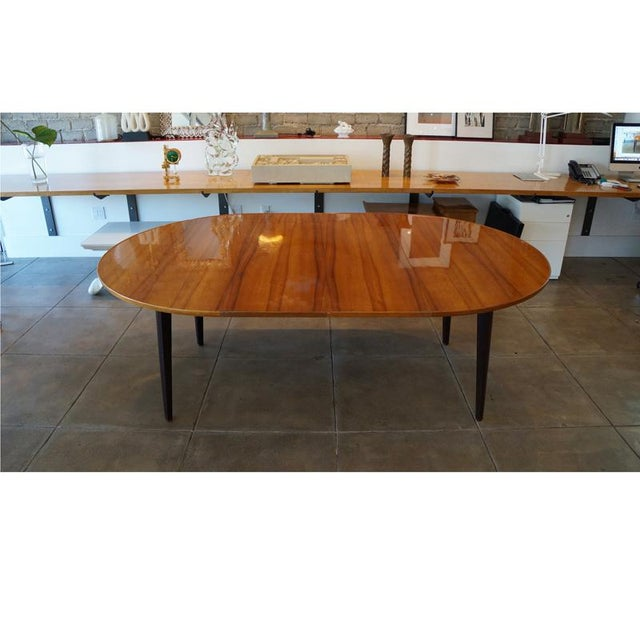 Dunbar Furniture 1950s Edward Wormley Dinning Table For Sale - Image 4 of 9