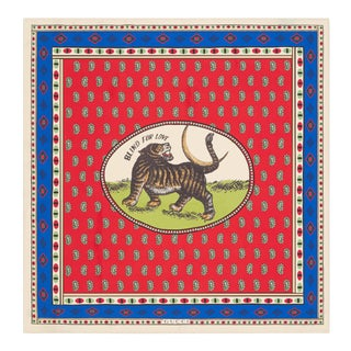 Gucci Tiger Moon Card Silk Carre Print