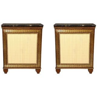 Pair of Regency Brass Inlaid Rosewood Cabinets For Sale
