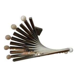 1970s Mid-Century Modern Gaetano Sciolari Chrome Spiral Chandelier