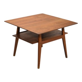 Jens Risom Walnut Side or End Table For Sale