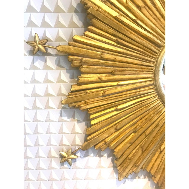 Exquisite Starburst Mirror With Antique Gold Leaf Finish For Sale - Image 12 of 13
