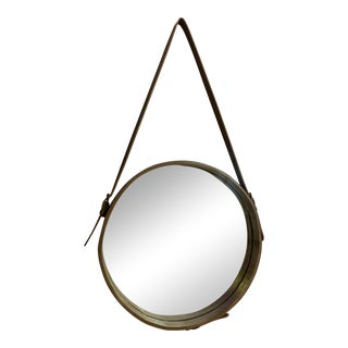 Modern and Contemporary Puck Beveled Accent Mirror For Sale
