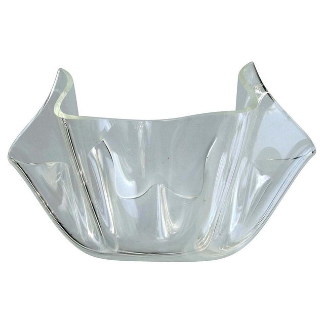 Mid-Century Modern Lucite Handkerchief Bowl - Image 1 of 9