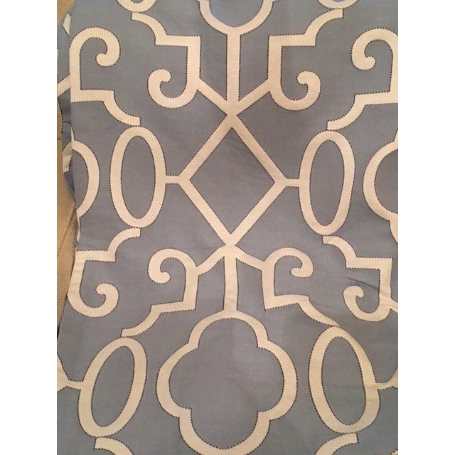 Scalamandre Ming Fretwork Fabric Window Treatments Drapes - Set of 4 - Image 4 of 6