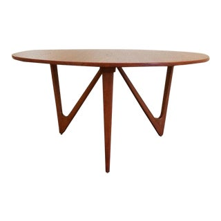 Teak Danish Modern Round Coffee or Side Table For Sale